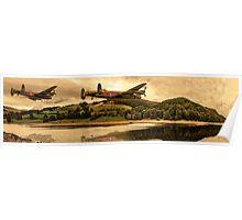 Ladybower Lancaster Bomber Poster