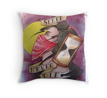 Never Sleep - Never Die Throw Pillow