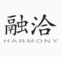 Chinese Symbol for Harmony T-Shirt by AsianT-Shirts