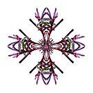 Purple Kangaroo Paw Design, native wildflower, Western Australia. by Leonie Mac Lean