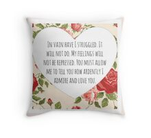Darcy's proposal Throw Pillow