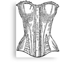 Vintage Corset Illustration Canvas Print