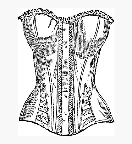 Vintage Corset Illustration Photographic Print