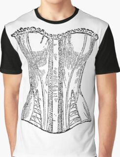 Vintage Corset Illustration Graphic T-Shirt
