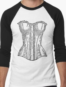 Vintage Corset Illustration Men's Baseball ¾ T-Shirt