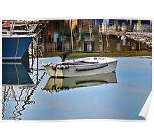 Cobb Reflections ~ Lyme Regis Poster