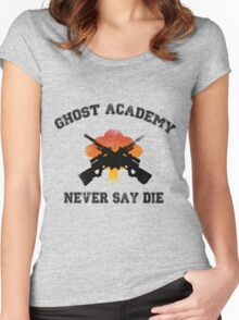 Ghost Academy - Never Say Die Women's Fitted Scoop T-Shirt