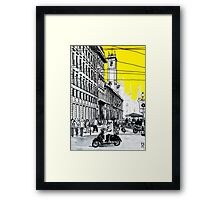 Splash Cities - Milano Framed Print
