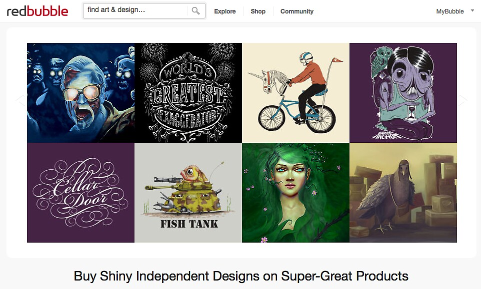 31 May 2012 by The RedBubble Homepage