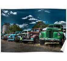 Old trucks Poster
