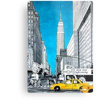 Splash Cities - New York 02 Metal Print