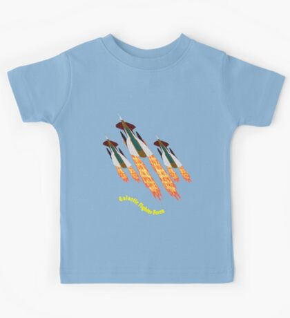 A Galactic Fighter Force on Patrol T-shirt design Kids Tee