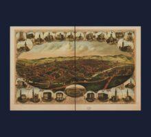 Panoramic Maps York Pa One Piece - Short Sleeve