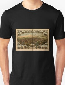 Panoramic Maps York Pa Unisex T-Shirt