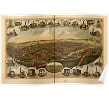 Panoramic Maps York Pa Poster