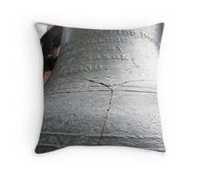 The Old Bell of my Alma Mater Throw Pillow