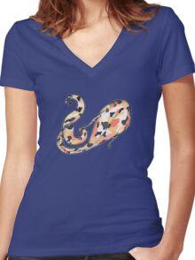 Coy Koi Women's Fitted V-Neck T-Shirt