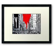 Splash Cities - New York 03 Framed Print