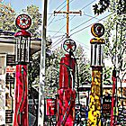 Antique gas pumps by Margot Ardourel