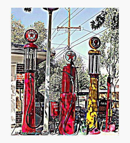 Antique gas pumps Photographic Print