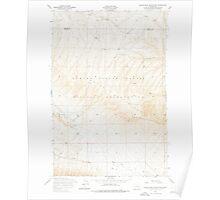 USGS Topo Map Washington State WA Black Rock Spring NW 240079 1953 24000 Poster