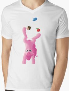 Juggling Pinkie Pie Mens V-Neck T-Shirt