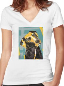 Dog Boris Women's Fitted V-Neck T-Shirt
