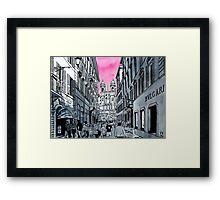 Splash Cities - Roma Framed Print