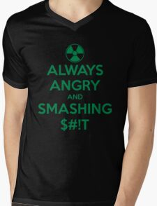 ALWAYS ANGRY! Mens V-Neck T-Shirt