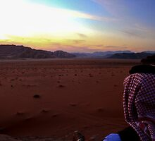 Sunset over Wadi Rum, Jordan by KerryPurnell
