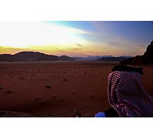 Sunset over Wadi Rum, Jordan Photographic Print