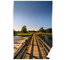 Bolton Abbey Bridge over the Flowing River Wharfe at Night 5613 A IMG Poster