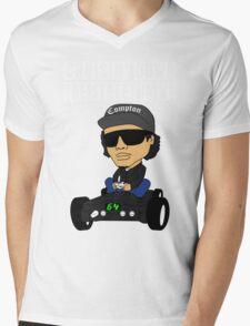 Hip Hop Funny Compton Rap Nintendo 64 Mens V-Neck T-Shirt