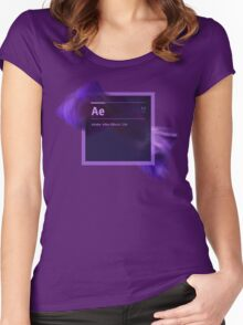 After Effects CS6 Splash Screen Women's Fitted Scoop T-Shirt