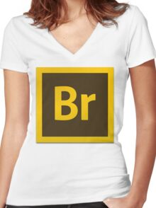 Bridge CS6 Logo Women's Fitted V-Neck T-Shirt