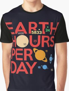 Earth Hours Per Day Graphic T-Shirt