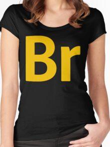 Bridge CS6 Letters Women's Fitted Scoop T-Shirt