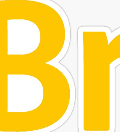 Bridge CS6 Letters Sticker