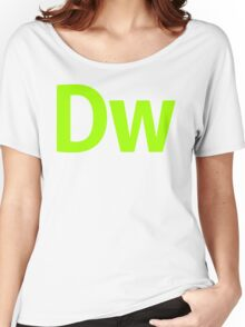 DreamWeaver CS6 Letters Women's Relaxed Fit T-Shirt