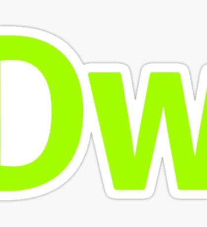 DreamWeaver CS6 Letters Sticker