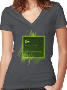 DreamWeaver CS6 Splash Screen Women's Fitted V-Neck T-Shirt
