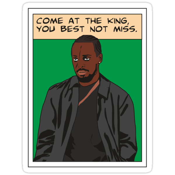 Omar Little as comic, The wire (green) by D4RK0