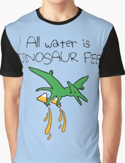 All Water Is Dinosaur Pee (Pterodactyl) Graphic T-Shirt