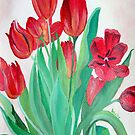 Bunch of Red Tulips by taiche