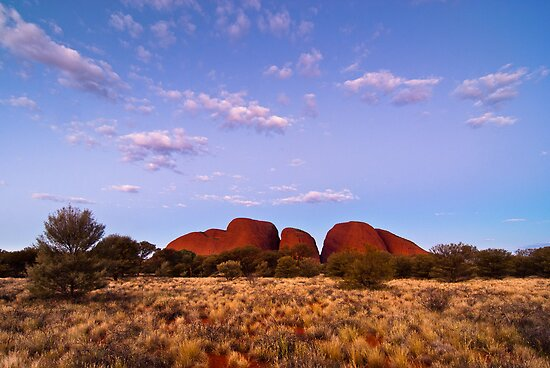 Twilight, Kata Tjuta by Dieter Tracey