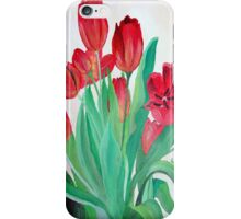 Bunch of Red Tulips iPhone Case/Skin