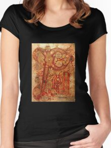 Page from the Book of Kells Women's Fitted Scoop T-Shirt