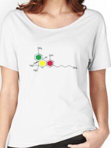 THC Molecules (cannabis marijuana) Women's Relaxed Fit T-Shirt
