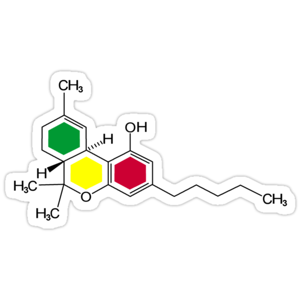 THC Molecules (cannabis marijuana) by grumble1