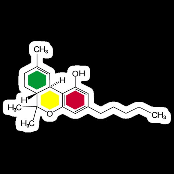 THC Molecules (cannabis marijuana) by grumble1